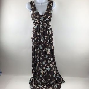 Limited Button Front Sleeveless Cinched Maxi MD
